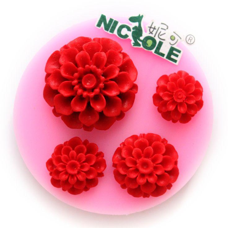 Николь F0567 выпечки инструмент торт формы силиконовые смолы цветок DIY шоколада пресс цветок - Taobao