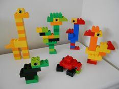 B23: Replicate simple 3-dimensional objects. Duplo animals.
