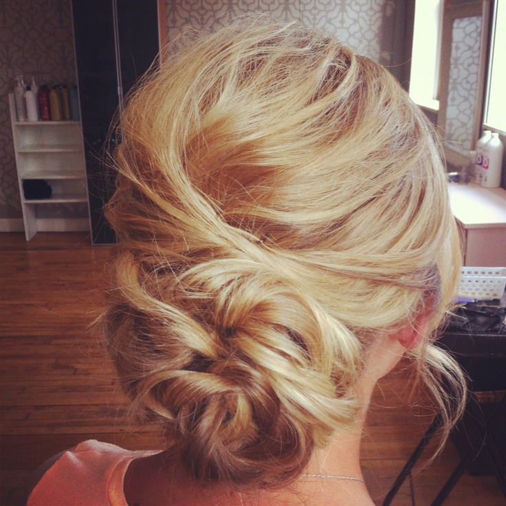 Messy Low Bun With Texture