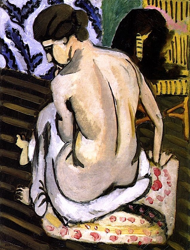 Seated Nude with Back Turned / Henri Matisse - circa 1917