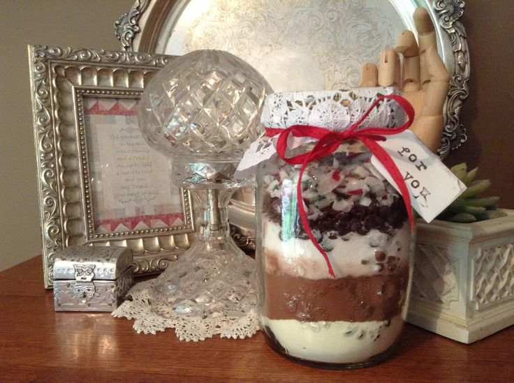 Home made peppermint hot chocolate mix.  Made by Kylie Bailey.
