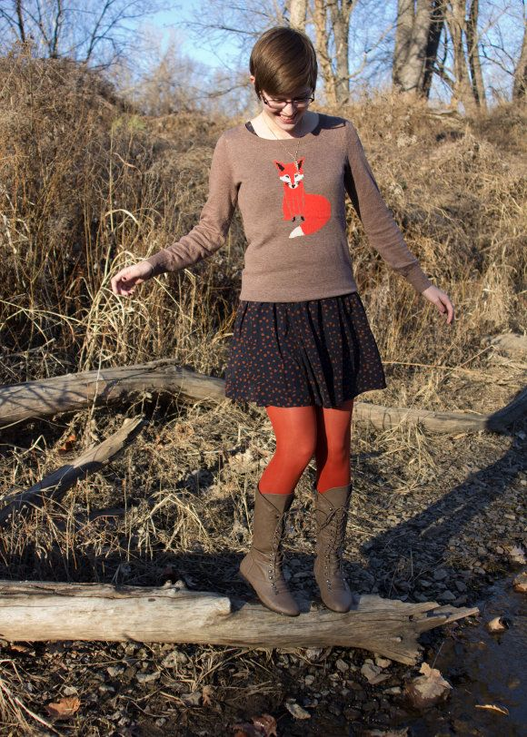 <3 this look from the ModCloth Style Gallery! Cutest community ever. #indie #style thought this looked like abby for some reason- when she had a cute pixie haircut