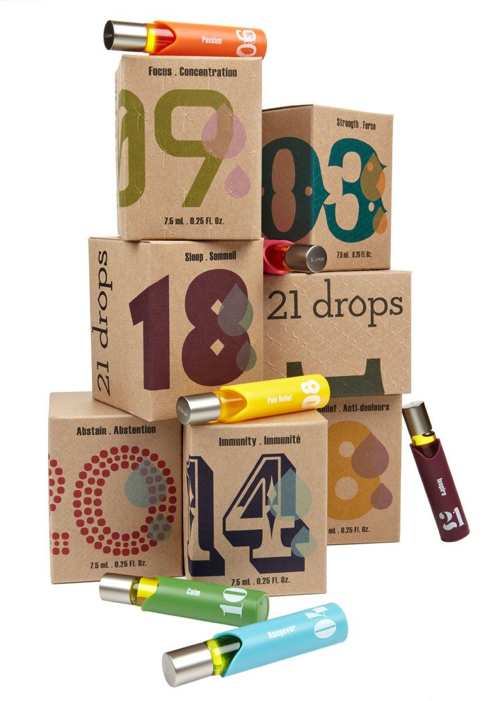 : Design Inspiration, Aromatherapy, Package Design, 21Drop, Packaging Design, 21 Drops, Graphics Design, Essential Oils, Drop Packaging