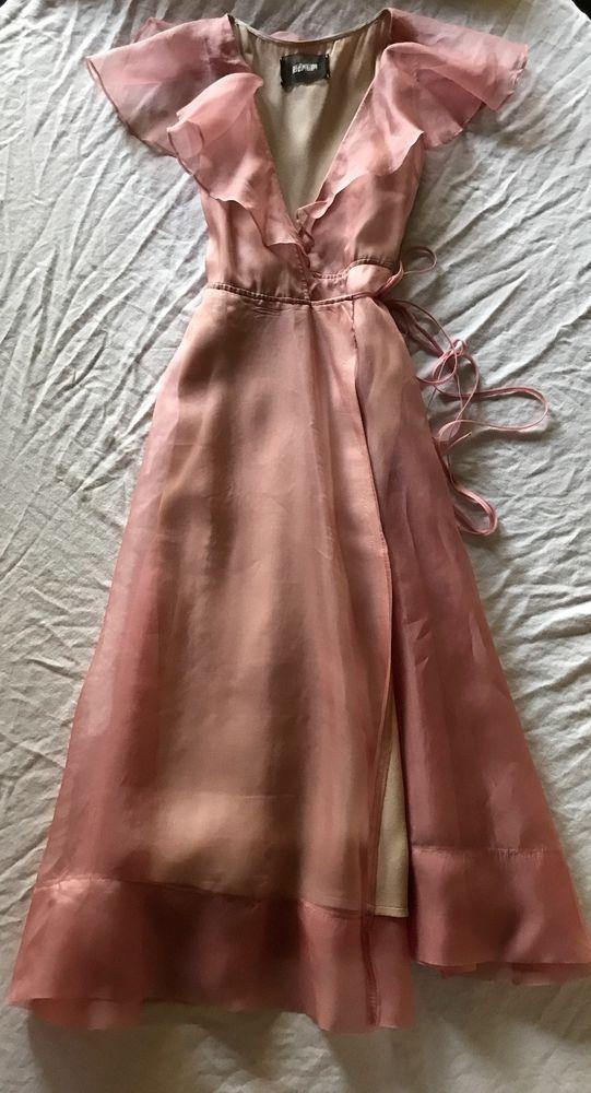 Details about Diane von Furstenberg Dress 2 Silk Blend Terrazzo Wrap Pink  XS Rose V Neck in 2019  7722e75e2386