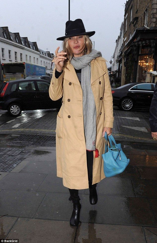 Bursting onto the London scene: For a splash of vibrant colour, the fashionista made the s...