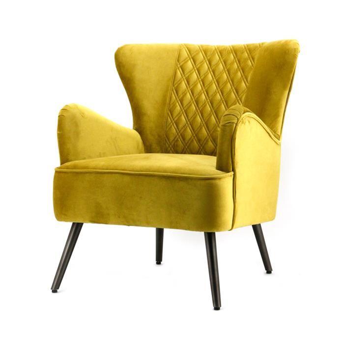 Woononline.nl Fauteuil Daisy - geel genova online kopen