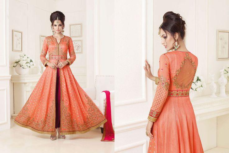 Ethnic Indian Suit Bollywood Anarkali Pakistani Dress Designer Kameez Salwar…