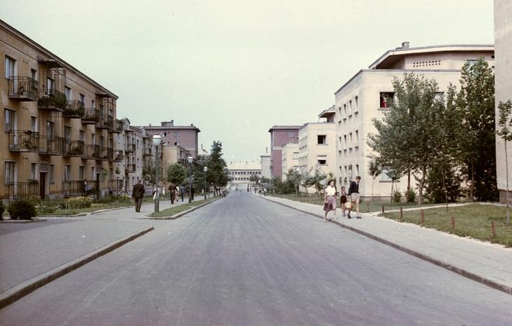 Babits Mihály (Beloiannisz) utca a Móricz Zsigmond Általános Iskola felé nézve.