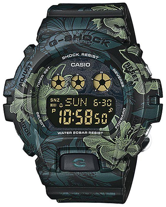 Zegarek damski Casio G-Shock GMD-S6900F-1ER - sklep internetowy www.zegarek.net zielony w kwiaty