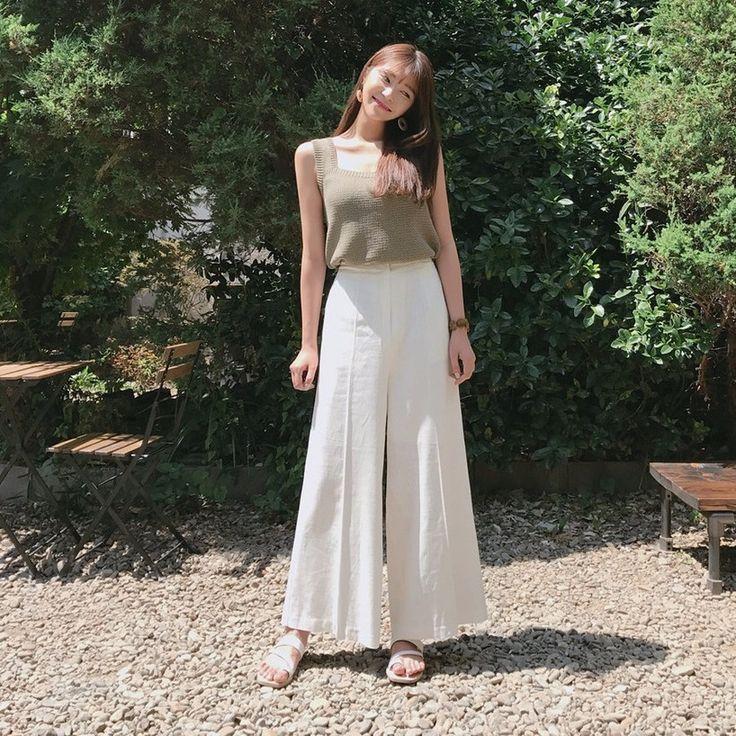 ♡リネンブレンドワイドスラックスパンツ♡ #レディースファッション #ファッション通販 #ファッショントレンド #新作 #最新 #モテ服 #韓国ファッション #韓国レディース通販 #ootd #wiw  #fashionaddict #womensfashion #fashion  https://goo.gl/Xr7pD5