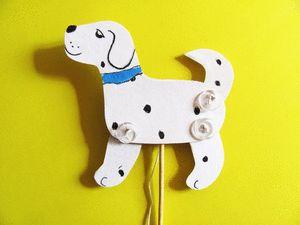 как сделать игрушку дергунчик в виде собаки