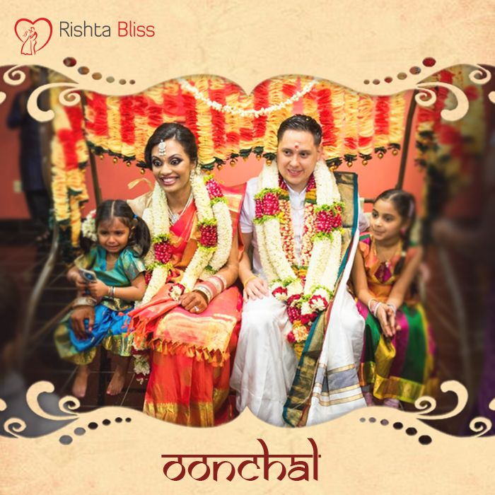 "South Indian tradition of couples sitting on a swing during the marriage is known as ""Oonchal"". The chain of the swing signifies the eternal bond between the couple and almighty. #RishtoKiKahani"