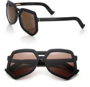Grey Ant Clip 56MM Large Aviator Sunglasses - $345.00