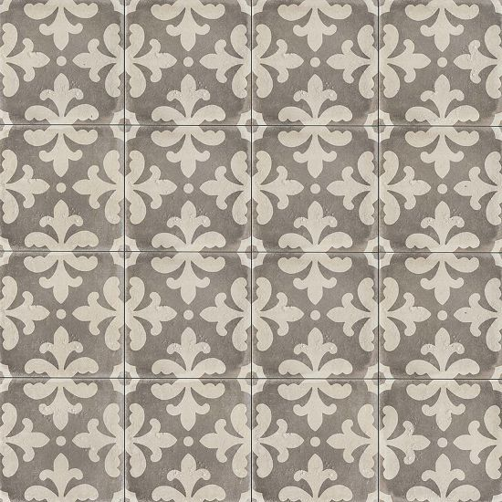 Palazzo 12 X 12 Decorative Tile In Vintage Grey Florentina In 2020 Decorative Tile Shower Floor Tile Elegant Tiles