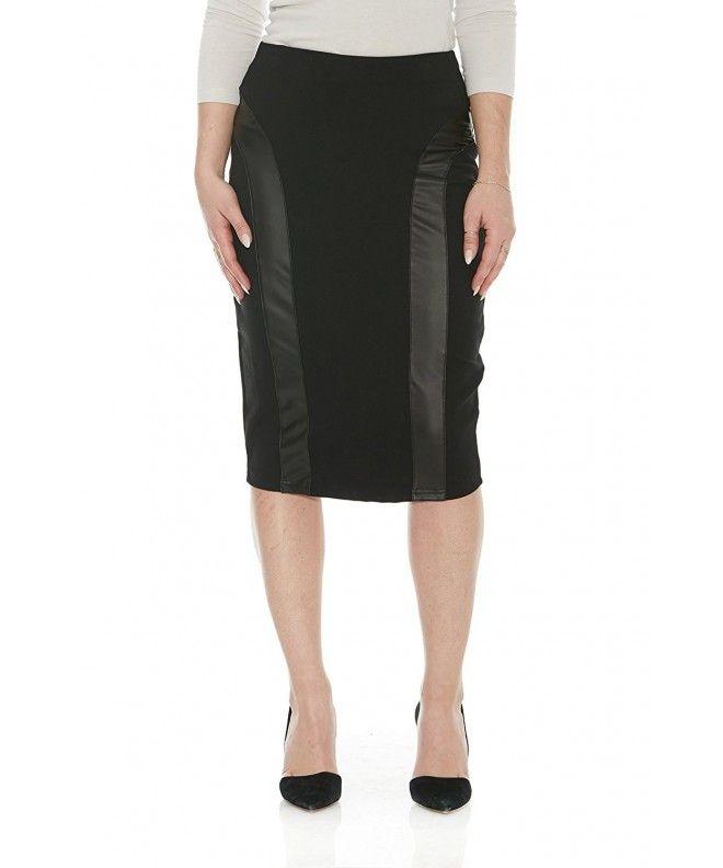 85f23c0a05 Women's Knee Length Slimming Ponte Tummy Control Pencil Skirt Madison -  Black - CC12O63ZDLP,Women's Clothing, Skirts #Skirts #style #fashion  #outfits