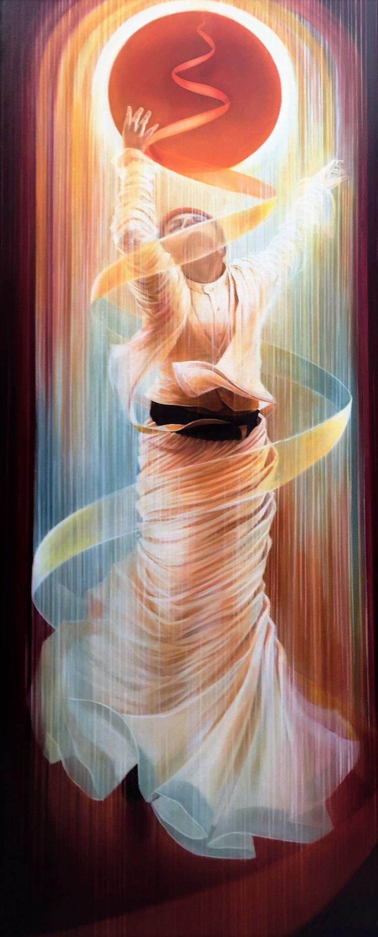 GulCan Karadag oil on canvas 168x70 cm