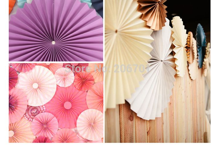 Paper fan ceiling fan decorated party supplies festive supplies wedding supplies wedding decorations birthday 12pcs