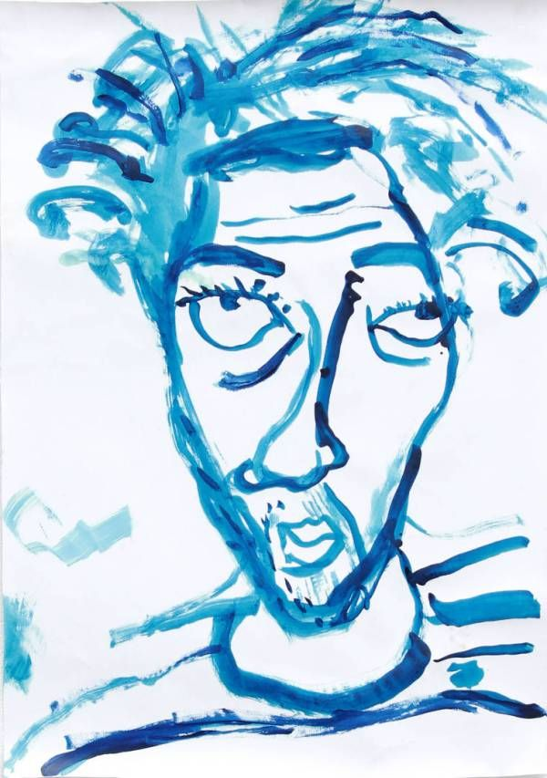 Autorretrato enfermo (Pablo Azul)