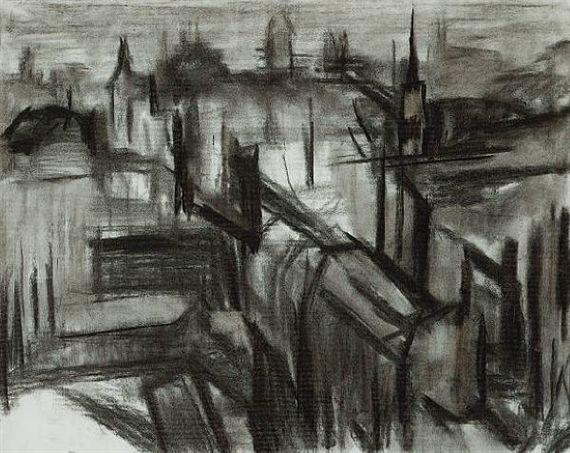 David Bomberg, London During the Blitz