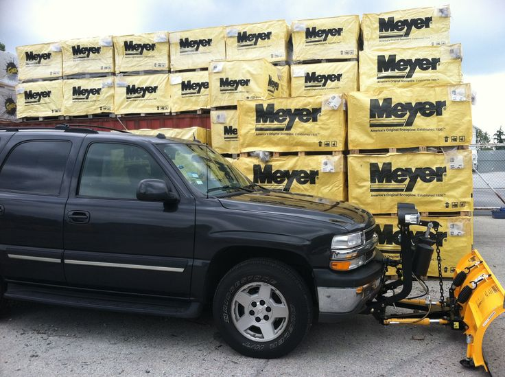 Snow Tracks For Trucks >> Meyer installed on Chevy Tahoe | Meyer Snow Plows | Pinterest | Chevy