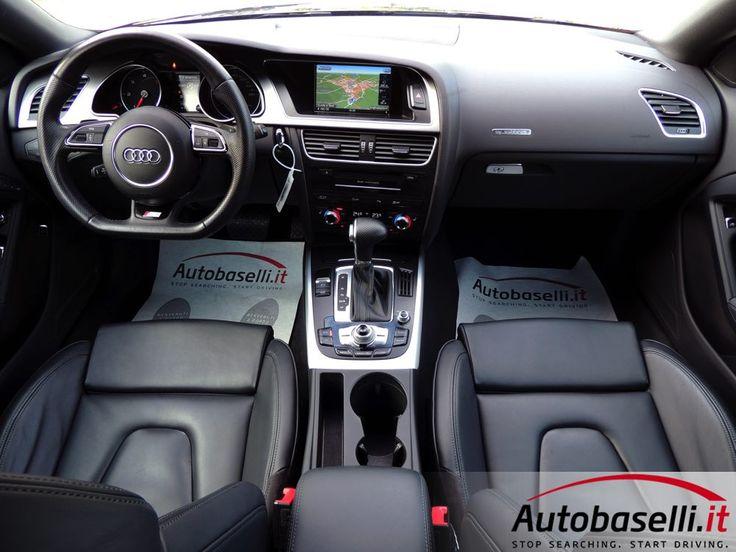 AUDI A5 COUPE' 2.0 TDI QUATTRO ADVANCED S-TRONIC S-LINE 190CV Cambio automatico + Pad + Navigatore + Fari Bi-xeno + Interno in pelle + Bluetooth + Retrocamera + 2xclima + Cruise control + Cerchi in lega 19 + Sensori di parcheggio a/p + Comandi al volante + Unico proprietario + del 2014