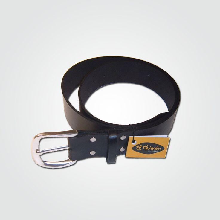 Cinturón 4 cm negro-níquel