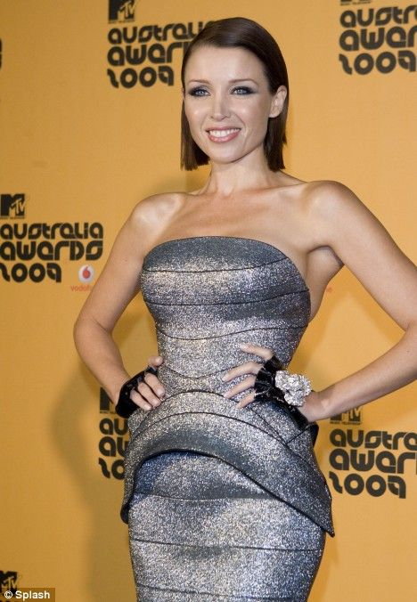 Space Age Girl: Dannii Minogue in a silver J'Aton Couture dress