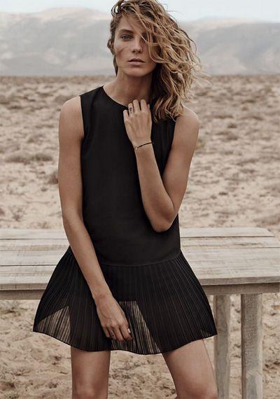 Mango summer 2014 campaign with Daria Werbowy: elegance of black dress