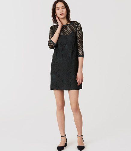 Image of Diamond Lace Shift Dress