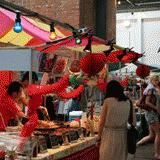 Also at the Old Truman Brewery-30 international food vendors-yum!