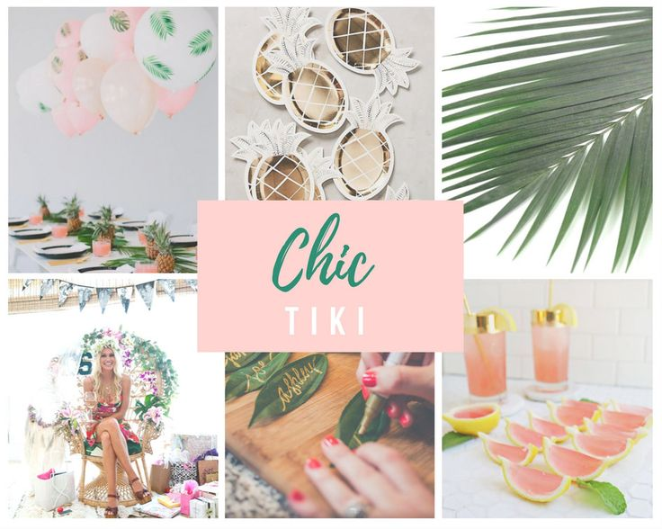 Tropica Bridal Shower and Bachelorette Ideas. We love this collection of Tropical Party Ideas! #Tiki #Tropical #Party