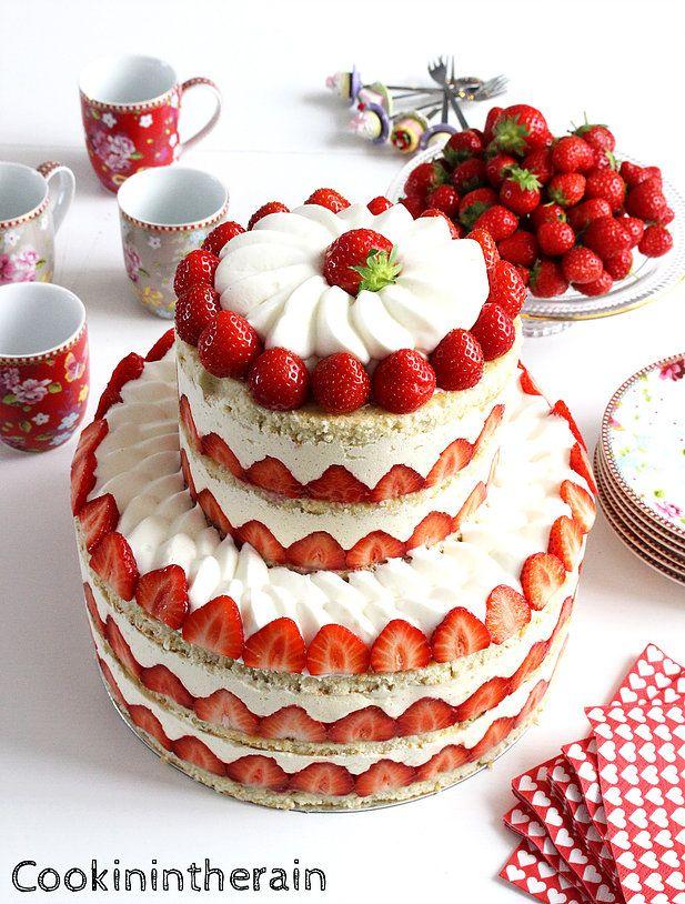 Le mini fraisier façon Wedding cake par Hugo & Victor