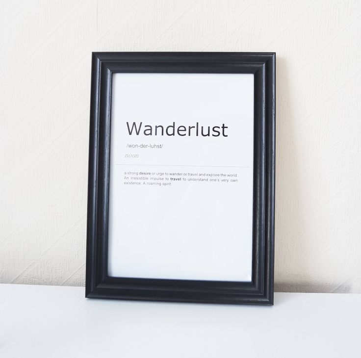 Wanderlust Definition Print. Inspirational Quote Print.Wall Art. Motivational Life Quote. Typography Art. Monochrome Print. Home Décor. by BlushedCreationsXOXO on Etsy