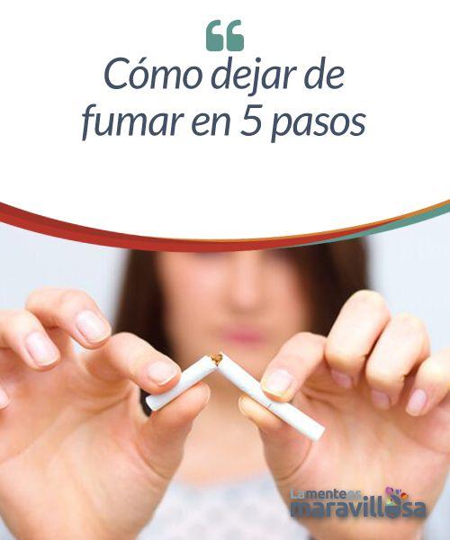 Cómo dejar de fumar en 5 pasos  Dejar de fumar es una decisión muy personal que la mayoría de los fumadores se han planteado alguna vez. Pero muchos no se ven capaces, e incluso, ya lo han intentado, pero no han tenido éxito, sobre todo si llevan fumando durante mucho tiempo.