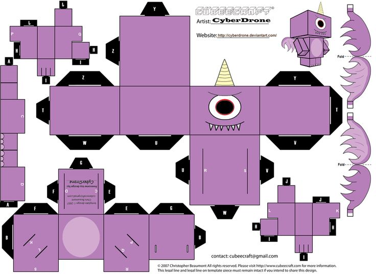 Cubee - Purple People Eater by CyberDrone on deviantART