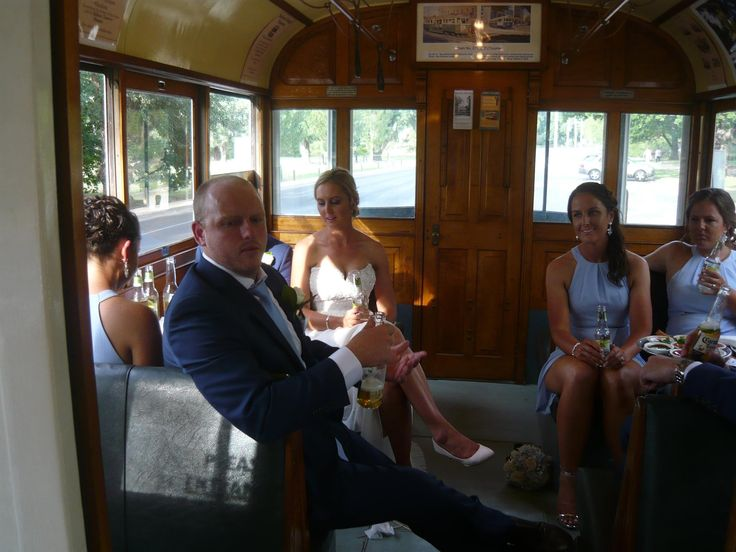 Pre reception tram ride