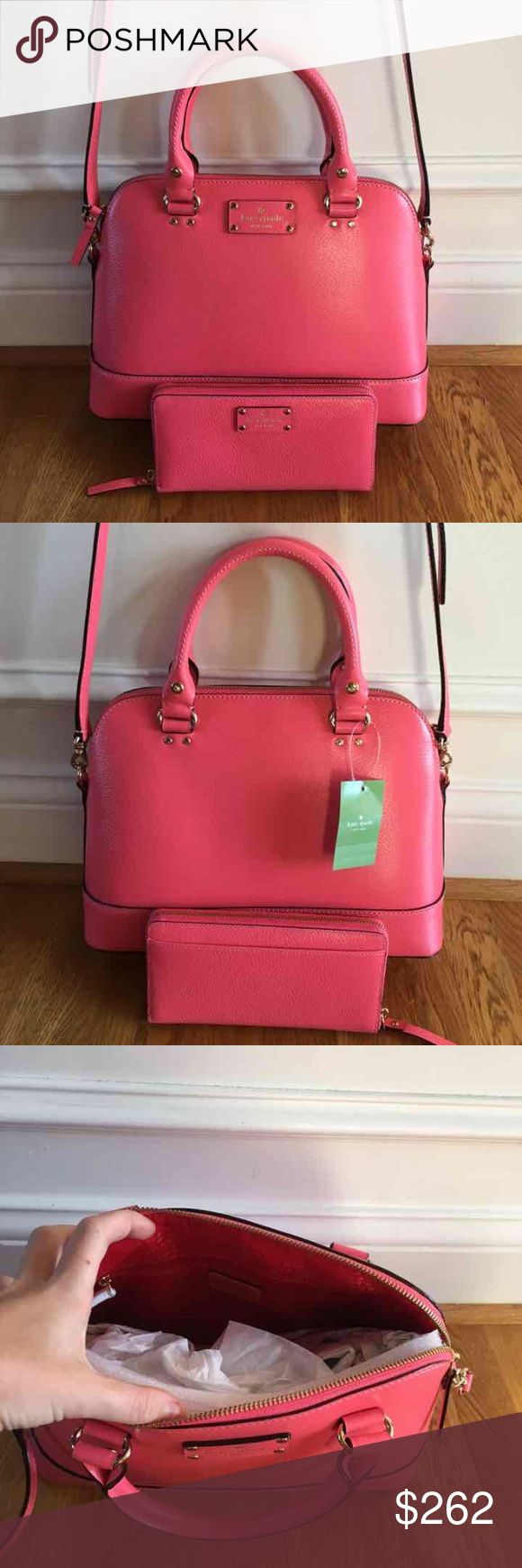 ❗️BUNDLE SALE❗️$486 Kate Sapde New with tags $328 Kate Spade small Rachelle wellesley crossbody in flamingo// brand new, perfect condition, never worn before.   New with tags $158 Kate Spade neda Wellesley wallet in flamingo/ brand new, perfect condition, never worn before. kate spade Bags Crossbody Bags