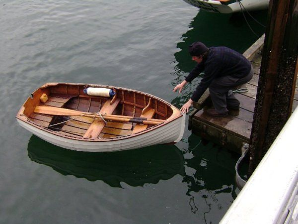 Small wooden sailing dinghy - looks like an Auk. << repinned by @Boats for Sale UK, follow us on Twitter for regular sailing updates :)