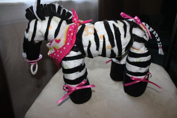 1000 Ideas About Zebra Diaper Cakes On Pinterest Diaper