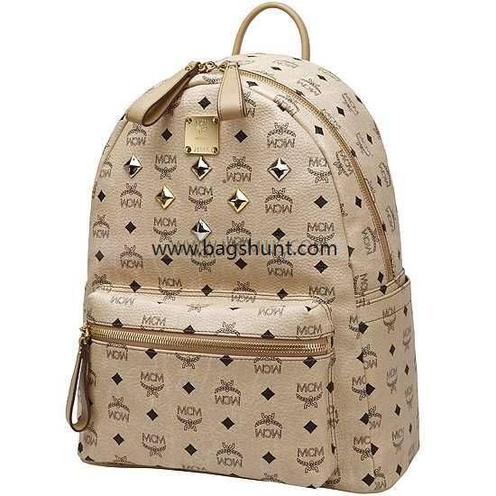 MCM medium visetos stark backpack beige 2016 Fashion                                                                                                                                                                                 More