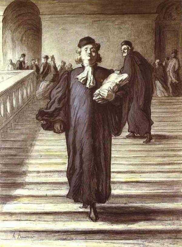"""Daumier """"Grande escadaria do palácio da justiça"""""""