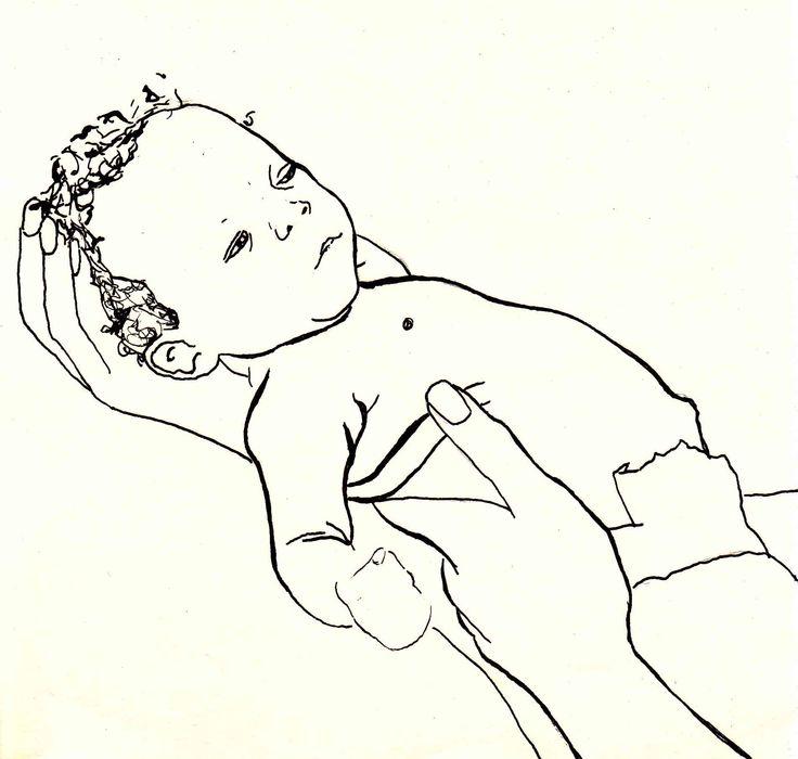 holding baby. www.suzanvdberg.nl