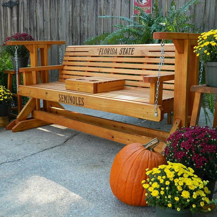 Southern Swings Classic Stained Porch Glider Woodworking