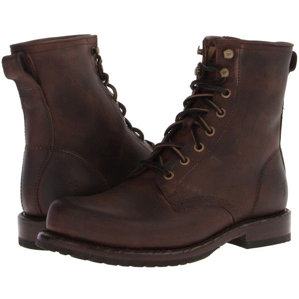 The Wayde Combat boot by Frye offers the perfect lived-in look and comfortable fit. Washed antique pull up or vintage pull up leather upper. Traditional lacing…