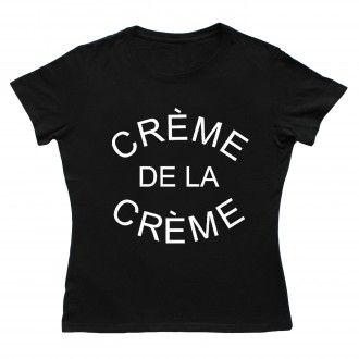 Creme De La Creme Women Black T-shirt