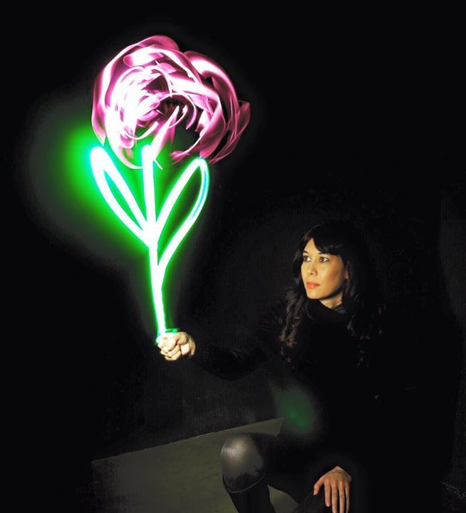 A rose for Umberto Eco.  #tribute #unpainted2016 @unpaintedartfair  #roseforecco #lightpainting Elasse @unpainted #tw #500px #fl www.1000lights.de Ulrich Tausend