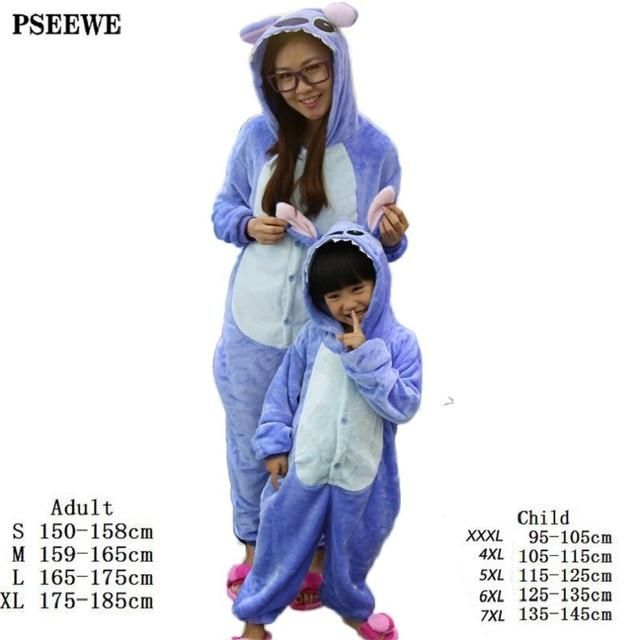 2eb17ce865 Stitch pajamas Child animal pajamas for adults Girls home clothing onesies  for adults sleepwear female suit