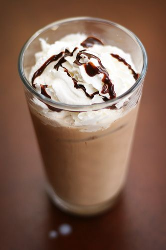 Iced Coffee Mocha   Recipe Blog Step by Step- I do believe this would be cheaper than Starbucks...who I so graciously taking all of my money!