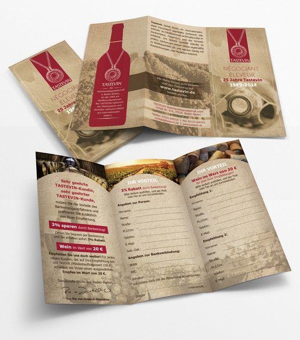 Tastevin wine-trade company needs brochure design by Alina's