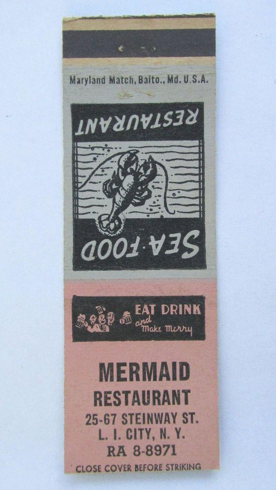 Mermaid Restaurant - Long Island City, New York 20 Strike Matchbook Cover NY